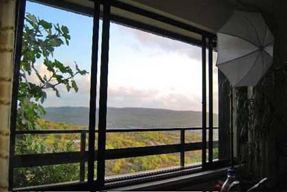 Blick aus Israel Hadars Haus