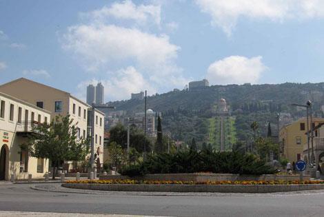 Haifa – vom deutschen Viertel Blick zum Baha'i-Tempel
