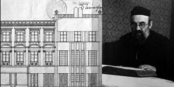 Plan: Ignaz Reisers (1930) für den Umbau des orthodoxen Bethauses in der Storchengasse 21 in eine Synagoga Foto: MA 37, Baupolizei